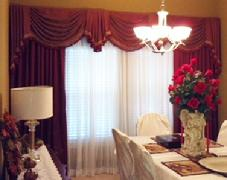 Custom Dining Room Drapes
